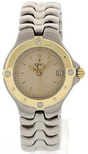 Ebel Ladies Ebel Sportwave Stainless Steel 18k Yellow Gold E6087621