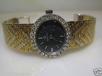 Ebel Vintage Omega 18kt Yellow White Gold Diamond Watch Bracelet