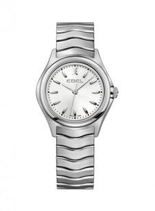 Ebel Wave Silver Dial Stainless Steel Ladies Watch EB1216191