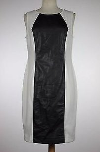 ECI New York Womens Black White Solid Dress