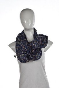 Ecote Ecote Womens Blue Navy Infinity Scarf Os Printed Cotton Casual