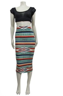 Ecote Knit Bodycon Midi Skirt Multi-Color