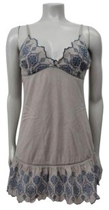 Ecote short dress blue Urban Outfitters Embroidered Neck Gray Ruffle Hem on Tradesy