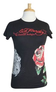 Ed Hardy T Shirt Top Blacks