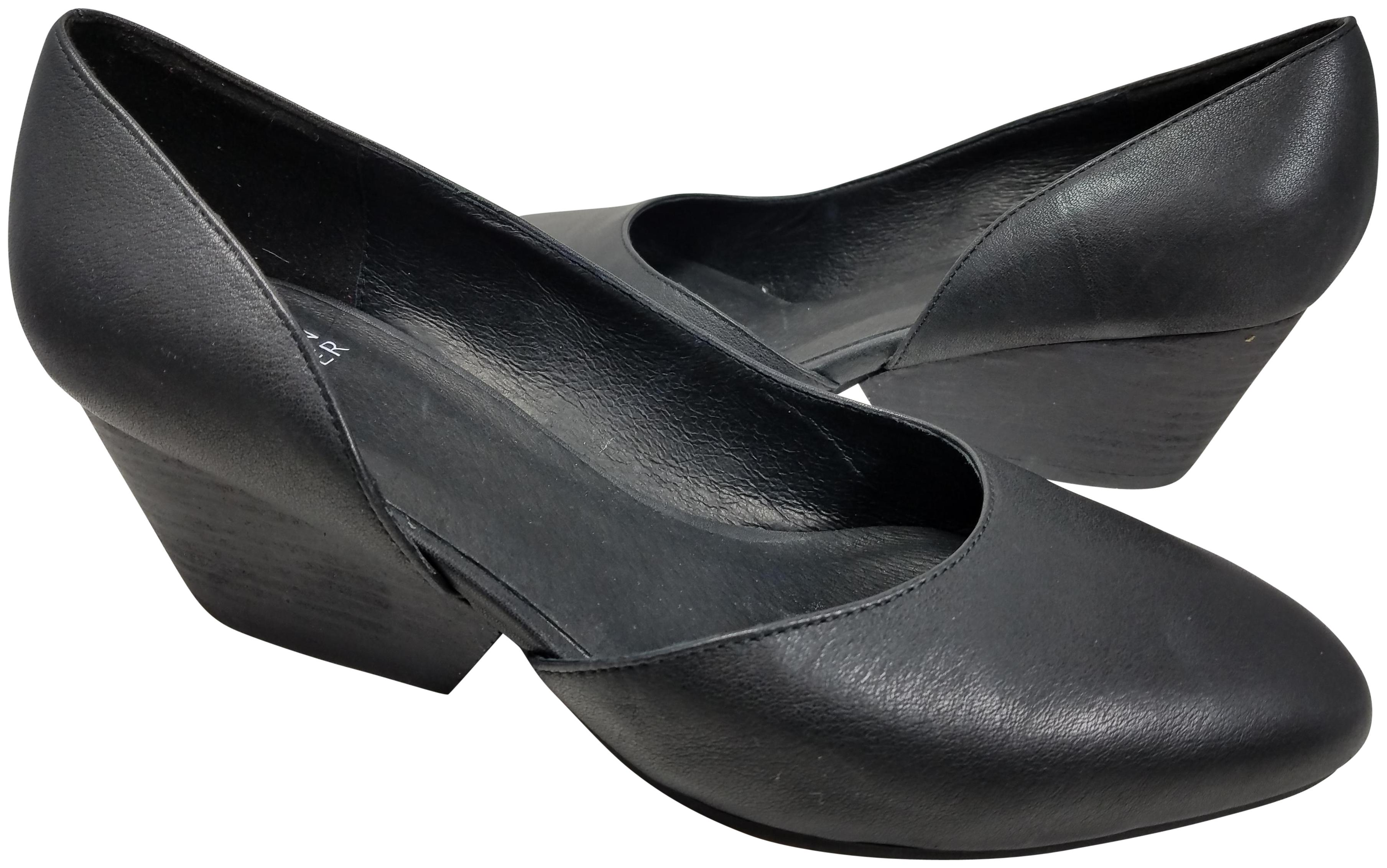 Eileen Fisher Womens LILY Leather Almond Toe Mules Black Size 8.0