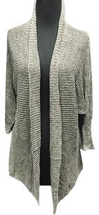 Eileen Fisher Linen Open Front Casual Sheer Cardigan 2800a Sweater