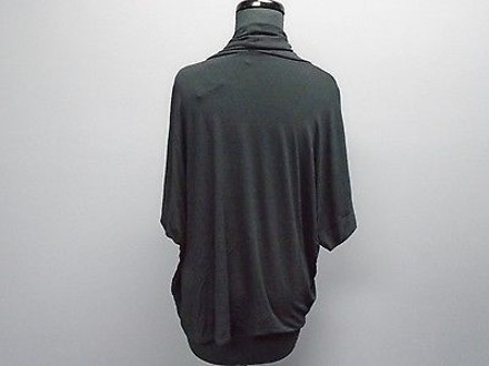 c909c48f99 durable modeling Eileen Fisher Black Rayon Blend Casual Fit Knit Cowl Neck  Sweater 2472a