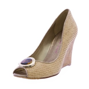 Elaine Turner Womens Elaineturner_charlotte_natural_6.5 Beige Wedges