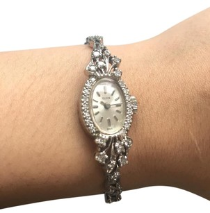 Elgin VINTAGE 14K ELGIN DIAMOND WRIST WATCH FOR WOMEN SWISS MADE