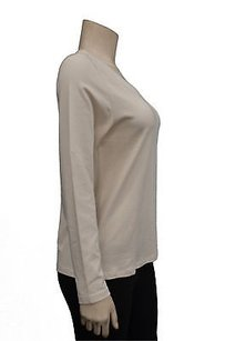 Elie Tahari Long Sleeve Stretch T Shirt beige