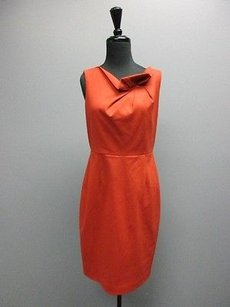 Elie Tahari Sleeveless Knee Length Ruffle Neck Sma10458 Dress