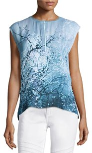 Elie Tahari Silk Tank Top Blue