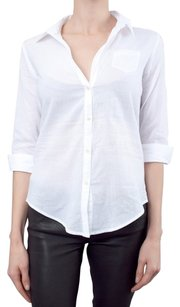 Elizabeth and James Button Back Button Down Shirt White