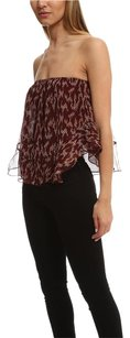 Elizabeth and James Ikat Pippa Top Burgundy