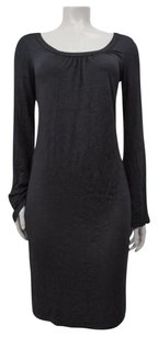 Ella Moss short dress Black Keira Flare Long Sleeve Satin Strap on Tradesy