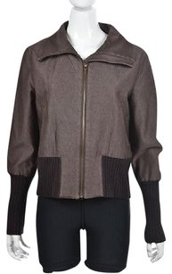 Ellen Tracy Company Womens Brown Jacket