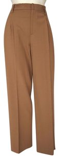 Ellen Tracy Linda Allard Tan Stretch Wool Pleated Hs2114 Pants
