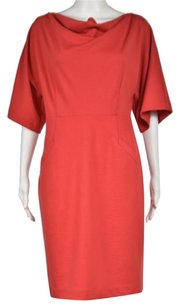 Ellen Tracy Womens 34 Sleeve Knee Length Sheath Dress