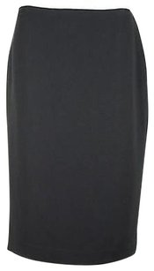 Ellen Tracy Womens Solid Triacetate Blend Straight Skirt Black