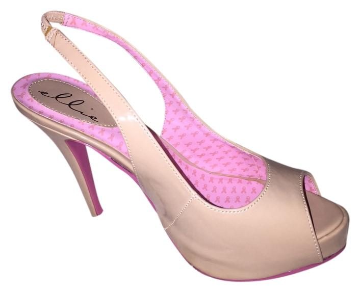 1288b0cd1a9 Ellie Shoes Tan and Pink Bottom Pumps Size US 9 9 9 Regular (M