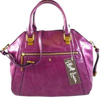 Elliott Lucca Leather Faro Satchel in Purple