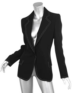 Emanuel Ungaro Wool Black Jacket