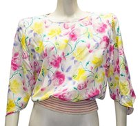 Emanuel Ungaro Vintage Floral Hs1252 Top Multi-Color