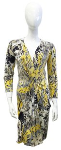 Emilio Pucci short dress Yellow, Grey, Black, White Silk Print Animal Print on Tradesy
