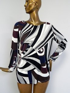 Emilio Pucci Multi Mod Print Top Multi-Color