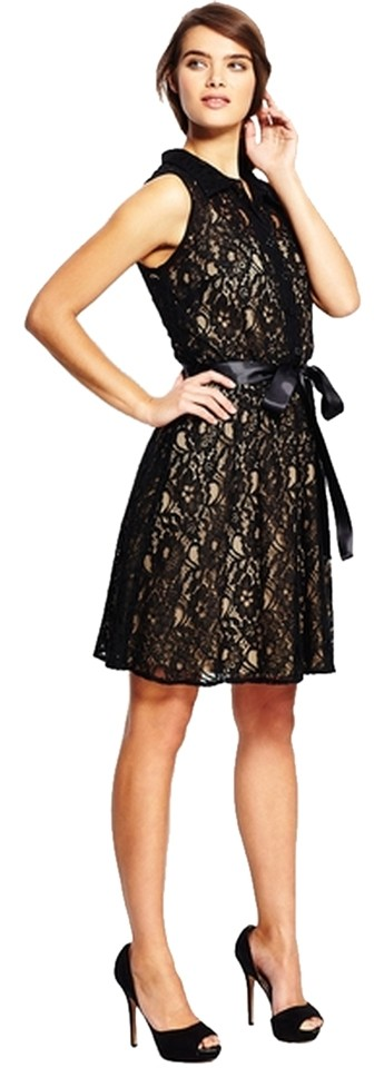Emma & Michele Sleeveless Collared Lace Dress