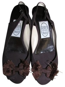 Emma Hope Italy Leather Soles brown Pumps