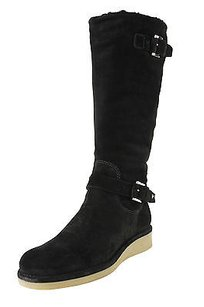Emporio Armani Eu 8 Us Womens Goat Leather black Boots