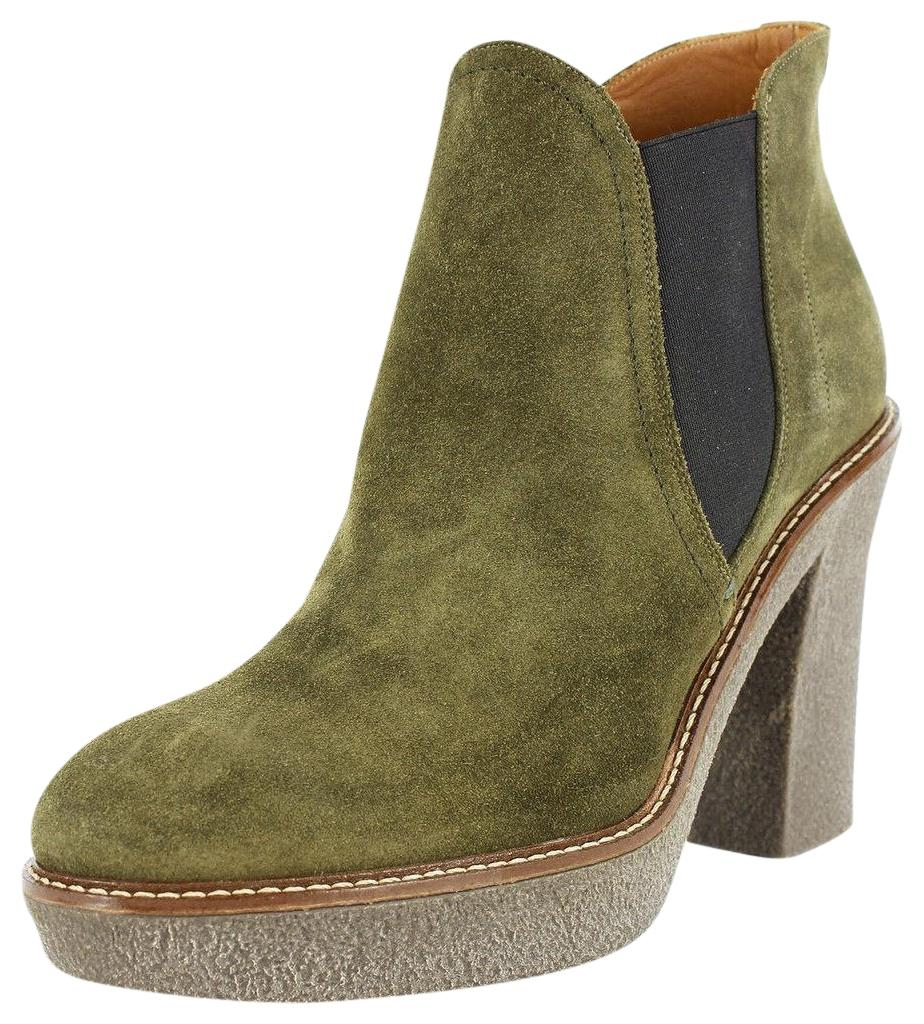 ArmaniKhaki Suede Boots EH22mYIH