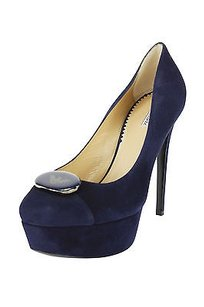 Emporio Armani Womens Stiletto Suede blue Pumps