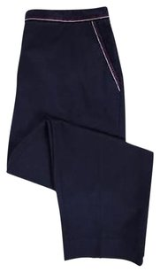 EP Pro Womens Navy Solid Causal Blend Trousers Pants