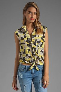 Equipment Femme Yellow Gray Top Multi-Color