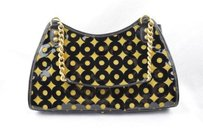 Eric Javits Vinyl Gold Shoulder Bag