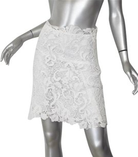 Ermanno Scervino Womens Classic Floral Lace 42s Skirt White