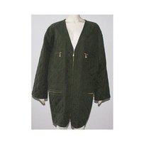 Escada Olive Quilted Green Jacket