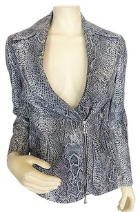 Escada Snakeskin Gray Jacket