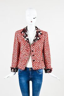 Escada White And Black Red Jacket