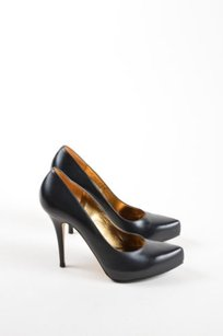 Escada Leather Pointed Black Pumps