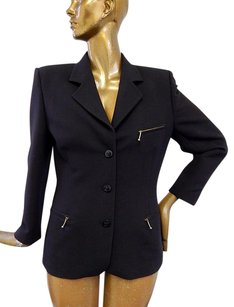 Escada Escada Margaretha Ley Black Wool Blazer Jacket Germany