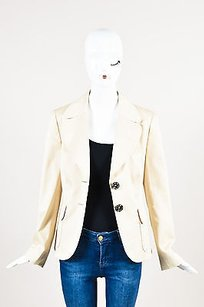 Escada Escada Beige Cotton Twill Blazer Jacket