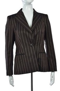 Escada Escada Neiman Marcus Womens Brown Blazer Striped Wtw Jacket