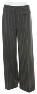 Escada Pinstripe Trouser Pants Brown and Beige