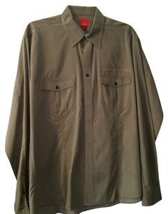 Esprit Military Shirt Mens Man Button Down Shirt