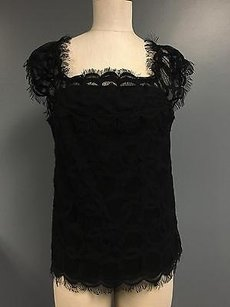Etcetera Nylon Lacey Top Black
