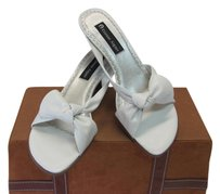 Etienne Aigner Leather Size 8.50 M White Sandals