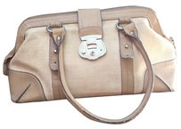 Etienne Aigner Satchel in Ivory/Lt Tan
